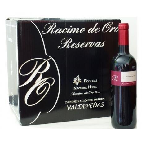 Caja 12 botellas Reserva Racimo de Oro. 2008