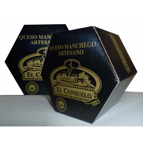 2 Quesos Manchegos Artesanos Semicurados, peso 2.000 gr. aprox.