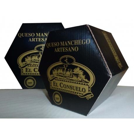 Queso Manchego Semicurado, peso  2,000 gr. aprox.